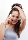 Pretty woman calling Royalty Free Stock Image