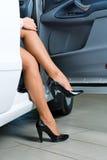 Pretty woman in car Stock Image