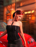 Pretty woman with the car. Royalty Free Stock Image