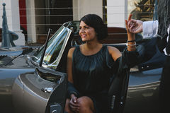 Pretty woman in car Stock Photography