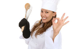 Pretty Woman Chef Stock Image