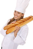 Pretty Woman Chef Stock Photo