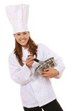 Pretty Woman Chef Stock Images