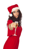 Pretty woman in Christmas Stock Image