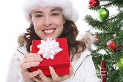 Pretty Woman at Christmas Stock Photography