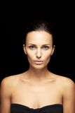 Pretty woman with clean and glowing skin Stock Photos