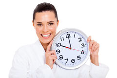 Pretty woman clock Royalty Free Stock Photos