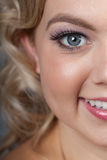Pretty woman close-up stock photo