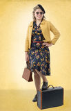 Pretty woman with clothes 1940. Pretty young woman with clothes 1940 royalty free stock photography