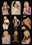 Pretty woman collage Stock Images
