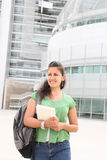 Pretty Woman at College Stock Photo