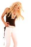 Pretty woman dancing Stock Image