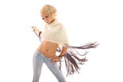 Pretty woman dancing royalty free stock photos