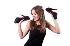 Pretty woman dancing Stock Image