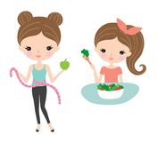 Pretty Woman Diet and Healthy Eating Stock Photography