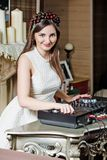 Pretty woman dj Stock Photos