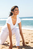 Pretty woman doing yoga Stock Images
