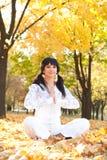 Pretty woman doing yoga exercises Royalty Free Stock Photo