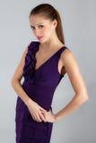 Pretty Woman In Dress Royalty Free Stock Photo
