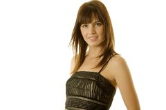 Pretty woman in dress Stock Photo