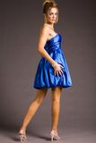Pretty woman in dress Royalty Free Stock Photo