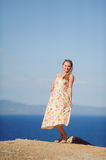 Pretty Woman in Dress Royalty Free Stock Images