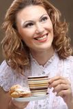 Pretty woman drinking coffee Royalty Free Stock Images