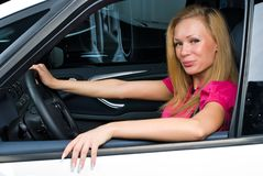 Pretty woman - driver Royalty Free Stock Photos