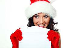 Pretty woman with an envelope Stock Image
