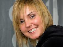 Pretty Woman Face. Smiling portrait Stock Image