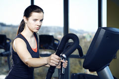 Pretty woman in fitness Royalty Free Stock Photography