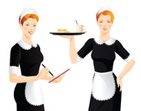 Pretty woman in french style uniform Stock Photo
