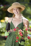 Pretty woman gardener Royalty Free Stock Photography