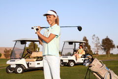 Pretty Woman Golfer Royalty Free Stock Photography