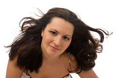 Pretty woman with great hair Royalty Free Stock Image