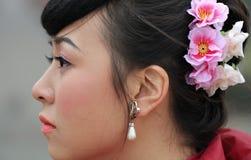 Pretty woman,happy bride Stock Photos