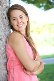 Pretty Woman Happy in Park Stock Photography