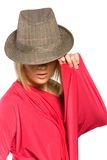 Pretty woman in hat Royalty Free Stock Photo