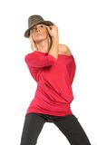 Pretty woman in hat Royalty Free Stock Photos