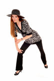 Pretty woman with hat. Stock Image