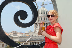 Pretty woman in Havana Stock Images