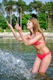 Pretty woman having fun Royalty Free Stock Photo