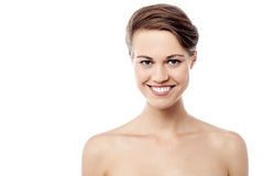 Pretty woman with healthy clean skin Stock Photos