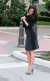 Pretty woman on her tip toes Stock Image