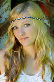Pretty woman , hippie-look Royalty Free Stock Photography
