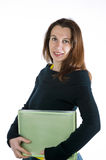 Pretty woman holding an business folder Stock Photography