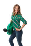 Pretty woman holding a watering can Stock Photography