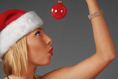 Pretty woman in holiday mood Royalty Free Stock Images