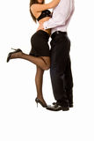 Pretty woman hugging handsome guy Stock Image