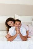 Pretty woman hugging her husband Stock Photo